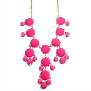 4 LEFT 🌺 Bright Pink Bubble Statement Necklace